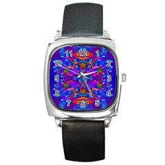 Abstract 4 Square Metal Watches by icarusismartdesigns