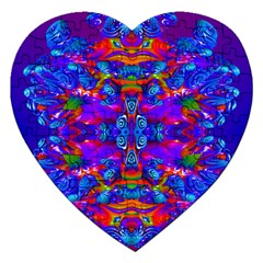 Abstract 4 Jigsaw Puzzle (heart) by icarusismartdesigns