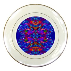 Abstract 4 Porcelain Plates by icarusismartdesigns