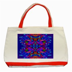 Abstract 4 Classic Tote Bag (red)  by icarusismartdesigns