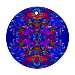 Abstract 4 Round Ornament (two Sides)  by icarusismartdesigns