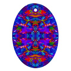 Abstract 4 Oval Ornament (two Sides) by icarusismartdesigns