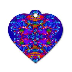 Abstract 4 Dog Tag Heart (two Sides) by icarusismartdesigns