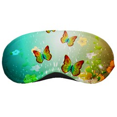 Flowers With Wonderful Butterflies Sleeping Masks by FantasyWorld7