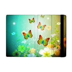 Flowers With Wonderful Butterflies Apple Ipad Mini Flip Case by FantasyWorld7