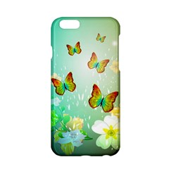 Flowers With Wonderful Butterflies Apple Iphone 6/6s Hardshell Case by FantasyWorld7
