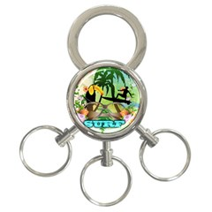 Surfing 3 Ring Key Chains by FantasyWorld7