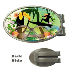 Surfing Money Clips (oval)  by FantasyWorld7