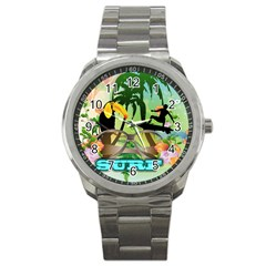 Surfing Sport Metal Watches by FantasyWorld7