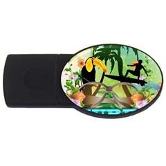 Surfing Usb Flash Drive Oval (4 Gb)  by FantasyWorld7