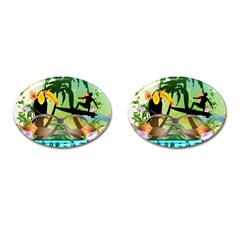 Surfing Cufflinks (oval) by FantasyWorld7