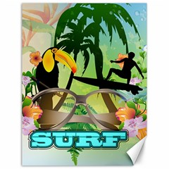 Surfing Canvas 12  X 16   by FantasyWorld7
