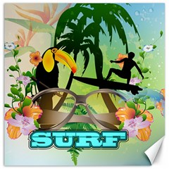 Surfing Canvas 20  X 20   by FantasyWorld7