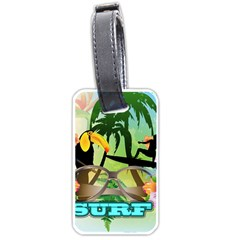 Surfing Luggage Tags (two Sides) by FantasyWorld7