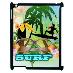 Surfing Apple Ipad 2 Case (black) by FantasyWorld7