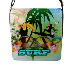Surfing Flap Messenger Bag (l)  by FantasyWorld7