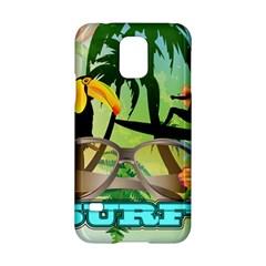 Surfing Samsung Galaxy S5 Hardshell Case  by FantasyWorld7