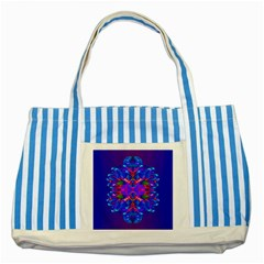 Abstract 5 Striped Blue Tote Bag  by icarusismartdesigns