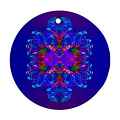 Abstract 5 Round Ornament (two Sides)  by icarusismartdesigns
