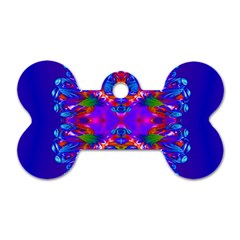 Abstract 5 Dog Tag Bone (one Side) by icarusismartdesigns