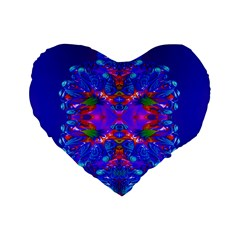 Abstract 5 Standard 16  Premium Flano Heart Shape Cushions by icarusismartdesigns
