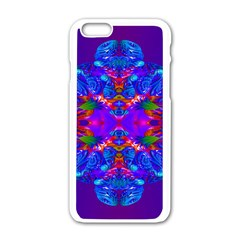 Abstract 5 Apple Iphone 6 White Enamel Case by icarusismartdesigns