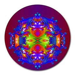 Abstract 6 Round Mousepads by icarusismartdesigns