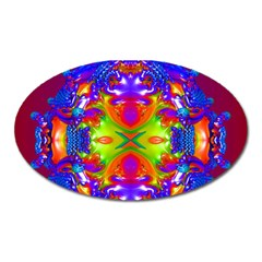 Abstract 6 Oval Magnet by icarusismartdesigns