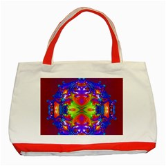 Abstract 6 Classic Tote Bag (red)  by icarusismartdesigns