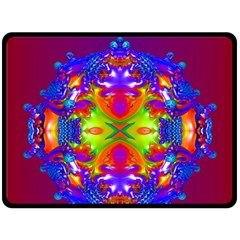 Abstract 6 Fleece Blanket (large)  by icarusismartdesigns