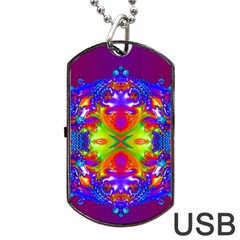 Abstract 6 Dog Tag Usb Flash (one Side) by icarusismartdesigns