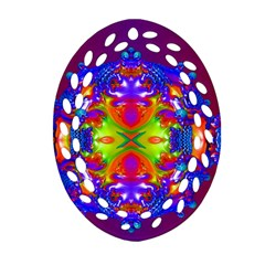 Abstract 6 Oval Filigree Ornament (2 Side)  by icarusismartdesigns