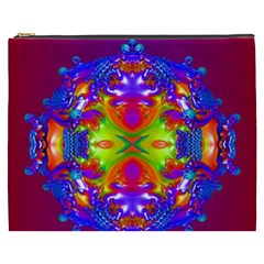 Abstract 6 Cosmetic Bag (xxxl)  by icarusismartdesigns