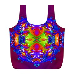 Abstract 6 Full Print Recycle Bags (l)  by icarusismartdesigns