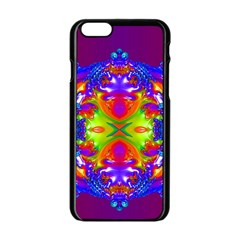 Abstract 6 Apple Iphone 6 Black Enamel Case by icarusismartdesigns
