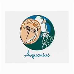 Aquarius Star Sign Small Glasses Cloth by theimagezone