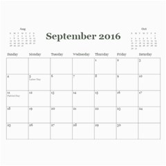 2016 Calendar By Julia Sep 2016