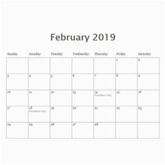 2019 Calendar Mix By Lisa Minor   Wall Calendar 11  X 8 5  (12 Months)   4ghfwgxakg7k   Www Artscow Com Feb 2019