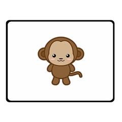 Kawaii Monkey Fleece Blanket (small) by KawaiiKawaii