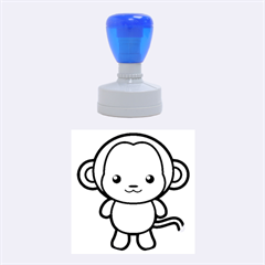 Kawaii Monkey Rubber Round Stamps (medium) by KawaiiKawaii
