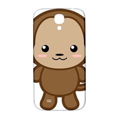 Kawaii Monkey Samsung Galaxy S4 I9500/i9505  Hardshell Back Case by KawaiiKawaii