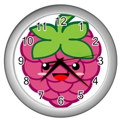Raspberry Wall Clocks (silver)  by KawaiiKawaii