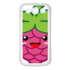 Raspberry Samsung Galaxy S3 Back Case (white) by KawaiiKawaii