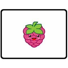 Raspberry Double Sided Fleece Blanket (large)  by KawaiiKawaii
