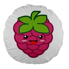Raspberry Large 18  Premium Flano Round Cushions by KawaiiKawaii