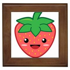 Kawaii Strawberry Framed Tiles by KawaiiKawaii