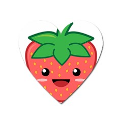 Kawaii Strawberry Heart Magnet by KawaiiKawaii