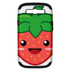 Kawaii Strawberry Samsung Galaxy S Iii Hardshell Case (pc+silicone) by KawaiiKawaii