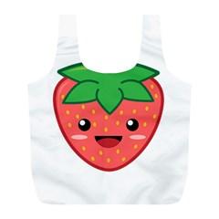 Kawaii Strawberry Full Print Recycle Bags (l)  by KawaiiKawaii