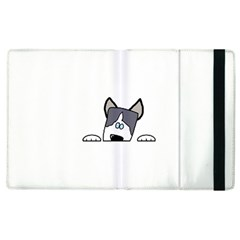Peeping Siberian Husky Apple Ipad 2 Flip Case by TailWags